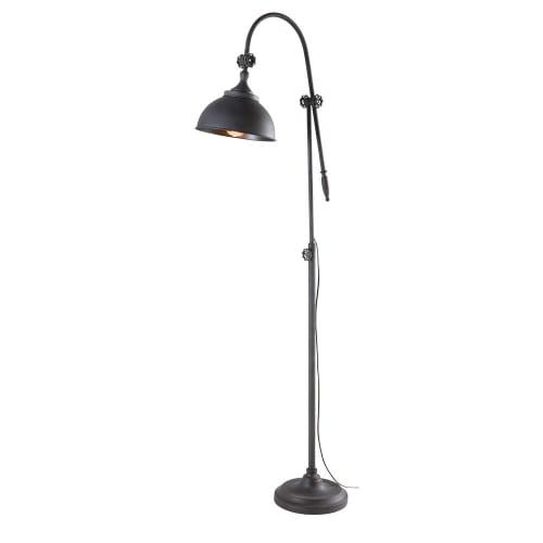 Industriele Kleine Staande Lamp.Industriele Staande Lamp Van Zwart Metaal H 168 Cm Maisons Du Monde