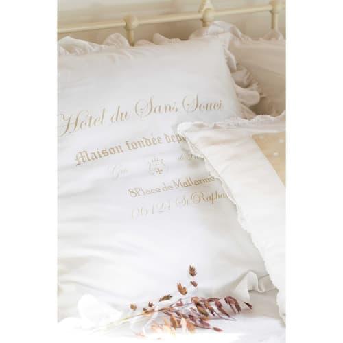 Juego de cama 220 x 240 cm de algodón blanco SANS SOUCI