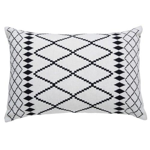 Kussen Zwart Wit.Katoenen Kussen Met Zwart Wit Motief 40x60