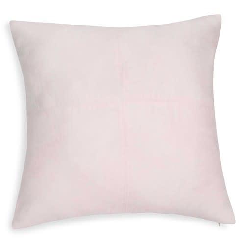 Kissen aus pastellrosa Wildlederimitat 60x60cm