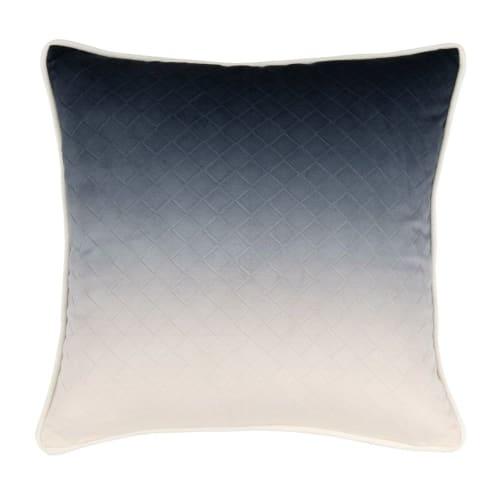 Kissenbezug Aus Baumwolle Blau Und Weiß 40x40