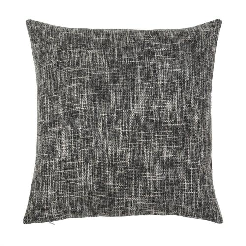 Kissenbezug Aus Baumwolle Grau Und Weiß 40x40