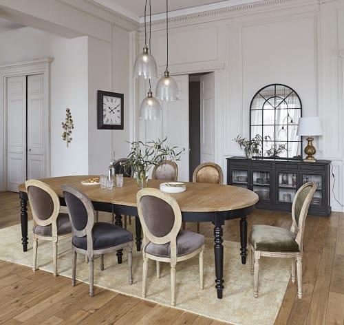 Klassieke Antiek Look Goudkleurige Bewerkte Lamp Met Witte Katoen Aurore Maisons Du Monde