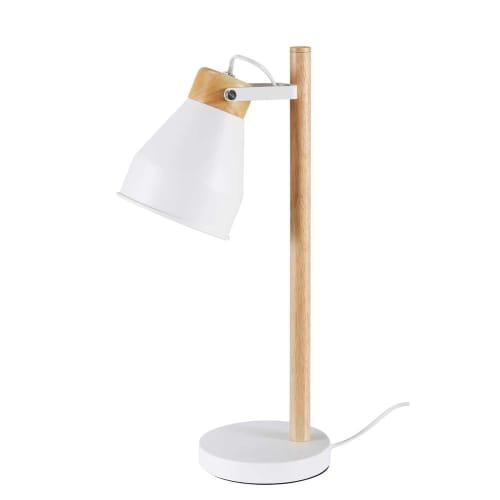 Lampada Da Tavolo In Hevea I Metallo Bianco Dream Maisons Du Monde