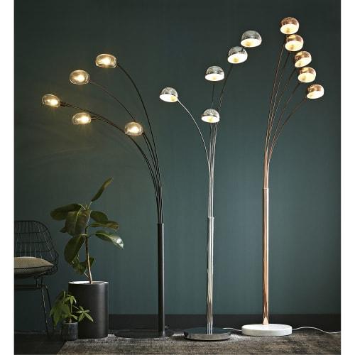 Lampadaire 5 branches en métal chromé H198 | Maisons du Monde