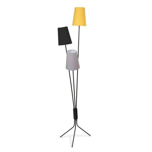Lampadaire en métal 10 abat-jours tricolores H10  Maisons du Monde