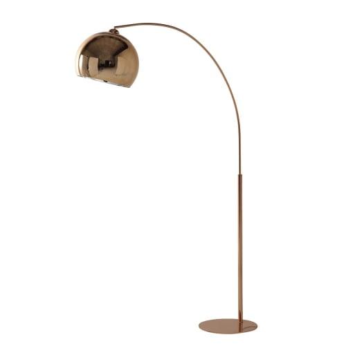 Lampadaire en métal cuivré et Plexiglas® H195 | Maisons du Monde