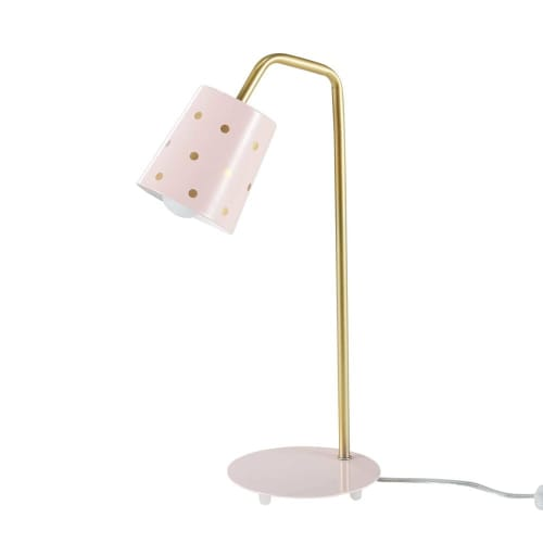 Lámpara y metal de de rosa dorado escritorio Ybf6g7y