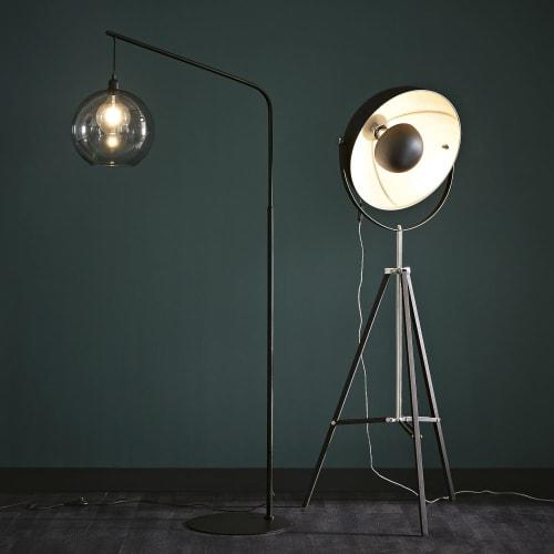 Lámpara trípode metal negro con de cm de Al145 pie 8wnkOP0