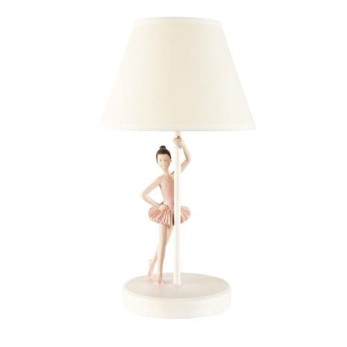 Lampe Ballerina und weißem Lampenschirm | Maisons du Monde