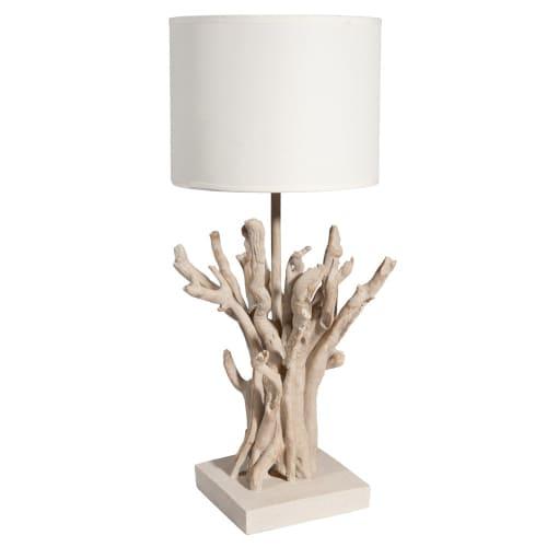Lampe de bois flotté