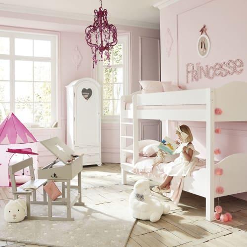 Letto A Forma Di Castello.Letti A Castello Bianco 90x190 Cm Pastel Maisons Du Monde
