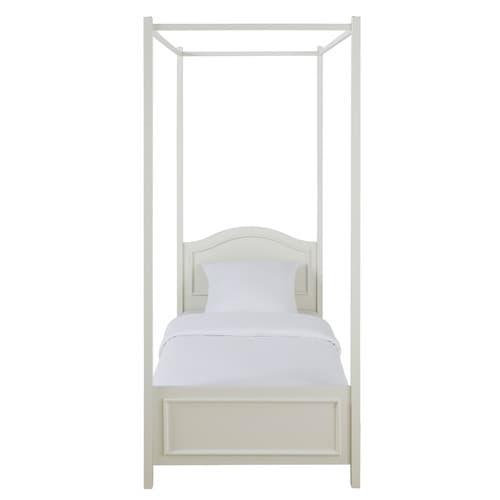 Maison Du Monde Letto Baldacchino.Letto Bianco A Baldacchino In Legno 90 X 190 Cm