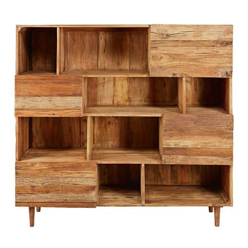 Librería con 4 puertas de madera reciclada   Maisons du Monde