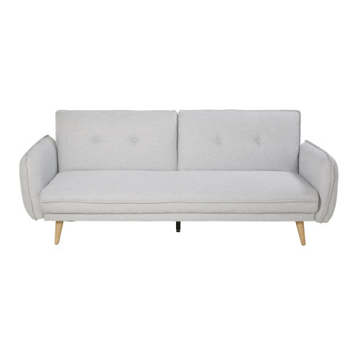 Light Grey 3 Seater Sofa Bed