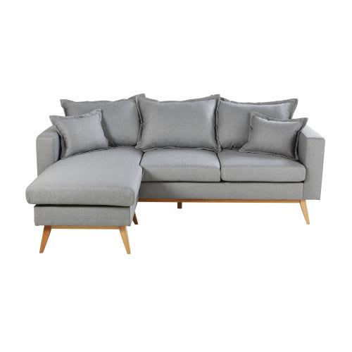 Light Grey 4/5-Seater Scandinavian-Style Corner Sofa