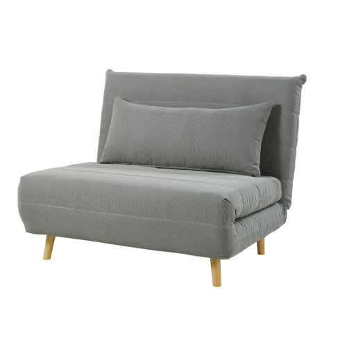 Light Grey Single Day Bed Sofa
