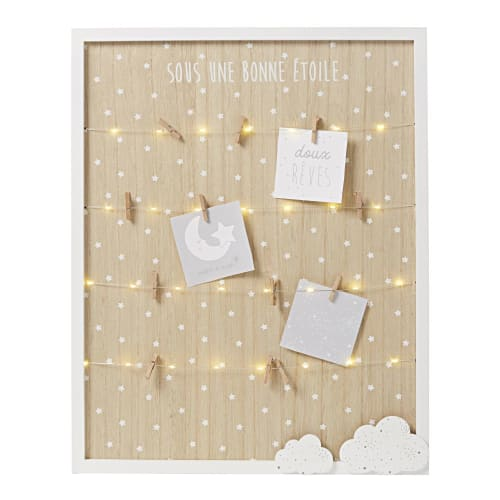 Light-up collage frame in white, grey and natural colours 9x9cm  Maisons  du Monde