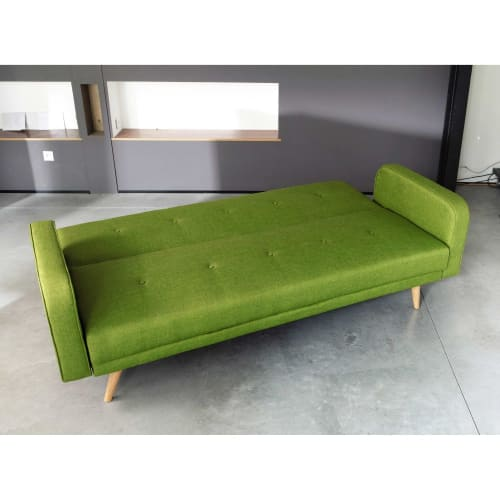 Magnificent Lime Green 3 Seater Clic Clac Sofa Bed Caraccident5 Cool Chair Designs And Ideas Caraccident5Info