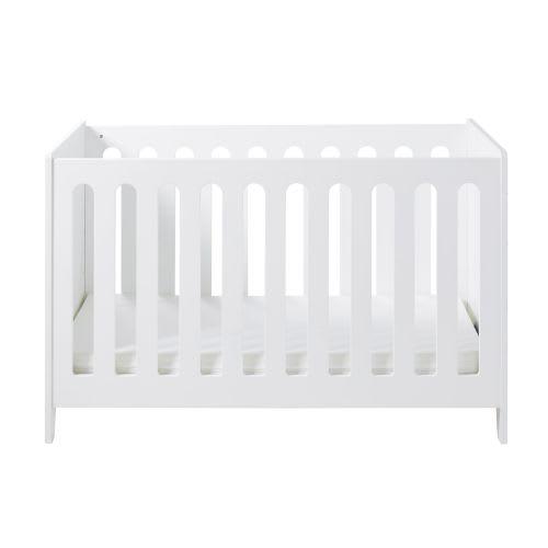 Lit Bébé à Barreaux 60x120 Blanc