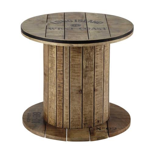 Mango Wood Cable Reel Side Table D 50cm Sailor Maisons Du Monde