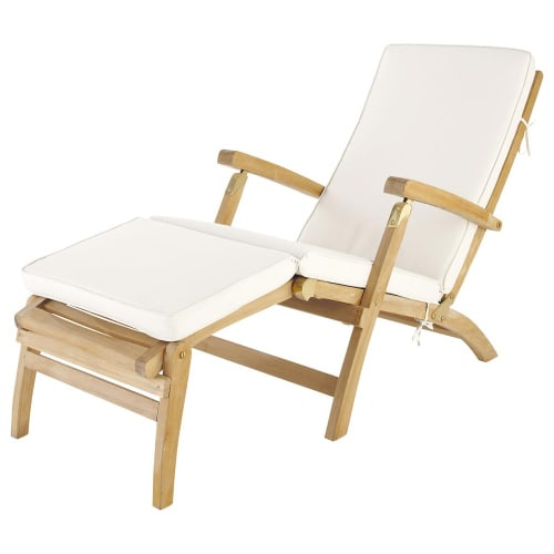 Materasso écru per chaise longue Per il giardino