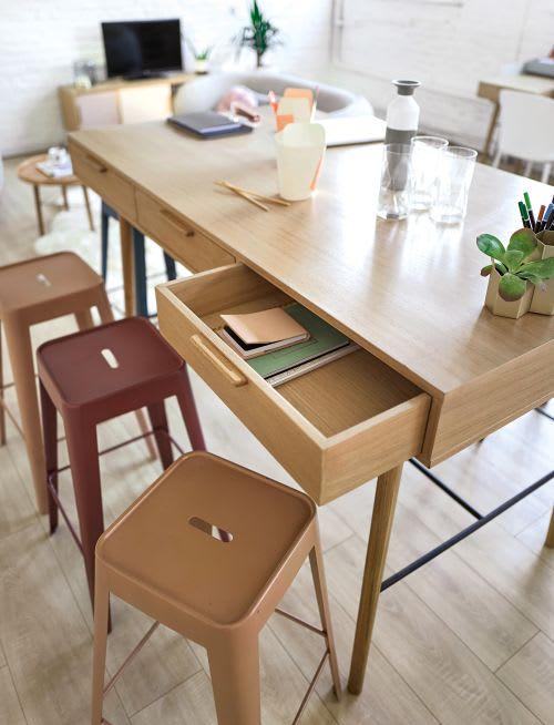 Mesa de comedor alta con 6 cajones para 4/6 personas L.160