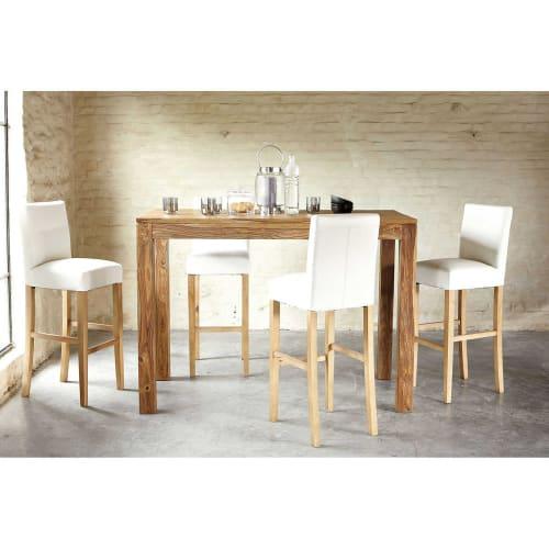 Mesa de comedor alta de madera de maciza de palo rosa L150