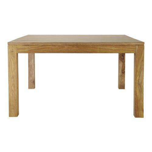 Mesa de comedor cuadrada de madera de maciza de palo rosa L.140 | Maisons  du Monde