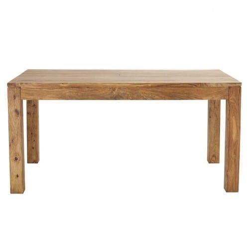Mesa de comedor de madera de maciza de palo rosa L.160