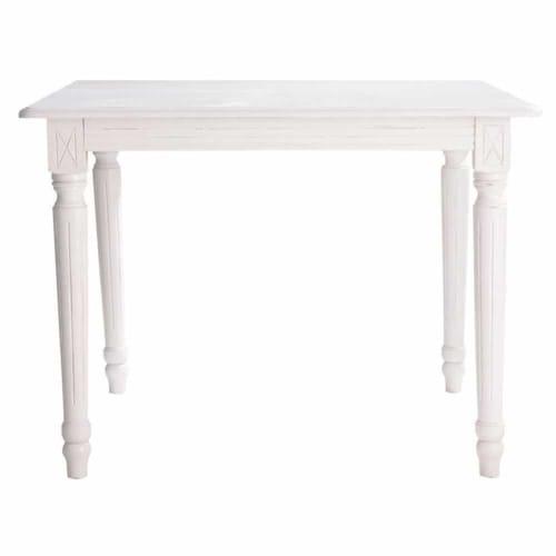 Mesa de comedor extensible de 4 a 8 personas blanca An. 100/180 cm