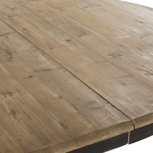 Mesa de comedor extensible para 6/8 personas de pino reciclado y abedul  L.140/190