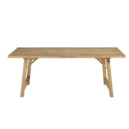 Mesa de comedor para 6/8 personas de pino macizo An.200
