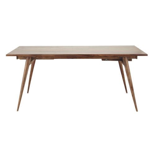 Mesa de comedor vintage de madera maciza de palo rosa L. 175
