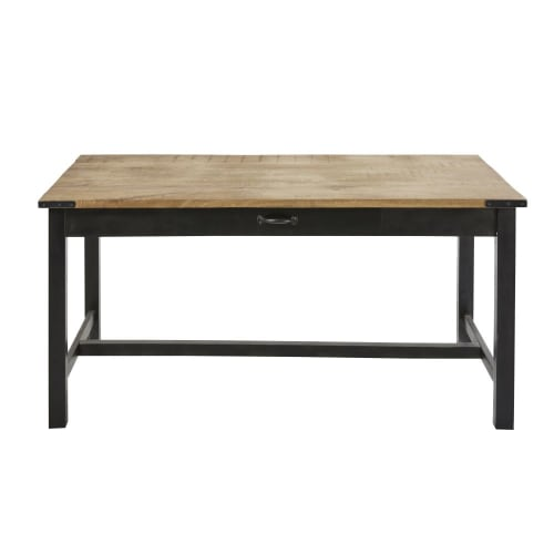 Metal and Mango Wood 8-8 Seater Dining Table W180  Maisons du Monde