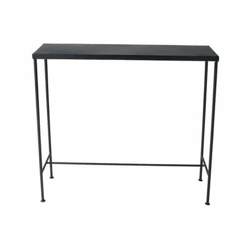 Metal industrial console table in black W 90cm