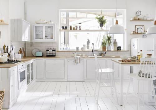 Meuble bas de cuisine avec évier 2 portes blanc