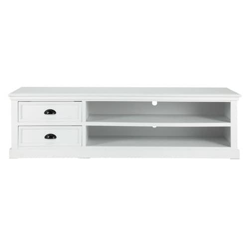 Meuble TV 2 tiroirs blanc Newport | Maisons du Monde
