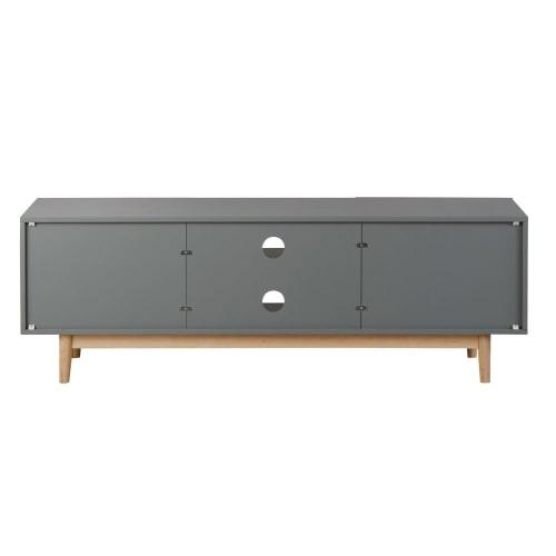 meuble tv style scandinave gris maisons du monde
