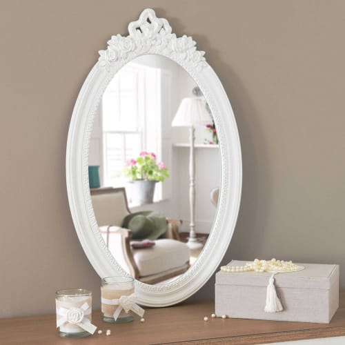 Miroir Blanc Maison Du Monde.Miroir Blanc 40x65 Maisons Du Monde