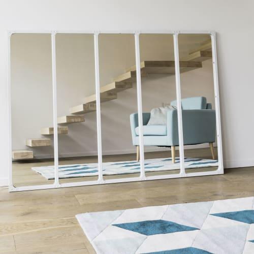 Miroir en m tal blanc 123x180 cargo maisons du monde for Specchi per ingrandire ambienti