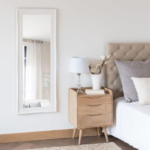 Miroir Blanc Maison Du Monde.Miroir En Paulownia Blanc 50x130 Maisons Du Monde