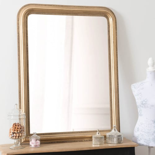 Miroir en paulownia doré, 90x120