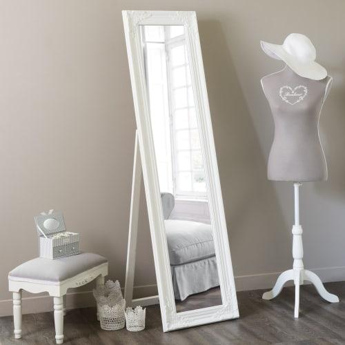 Miroir Blanc Maison Du Monde.Miroir Psyche Blanc 164x44 Maisons Du Monde