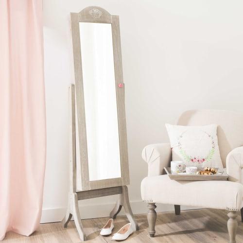 Miroir psyché porte-bijoux 42x160