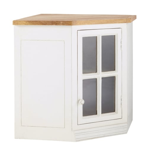 Mobile alto vetrato color avorio ad angolo da cucina in for Cerco mobile sala