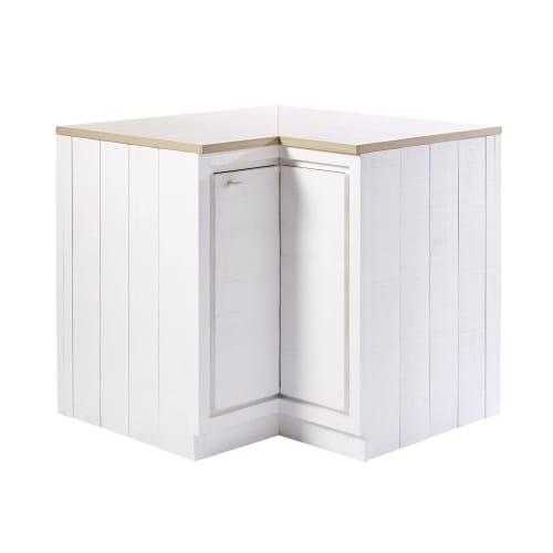 Mobile basso ad angolo da cucina a 1 anta bianco embrun for Cerco mobile sala
