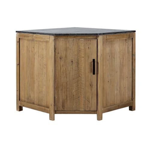 Mobile basso ad angolo da cucina in pino riciclato 97 cm | Maisons du Monde