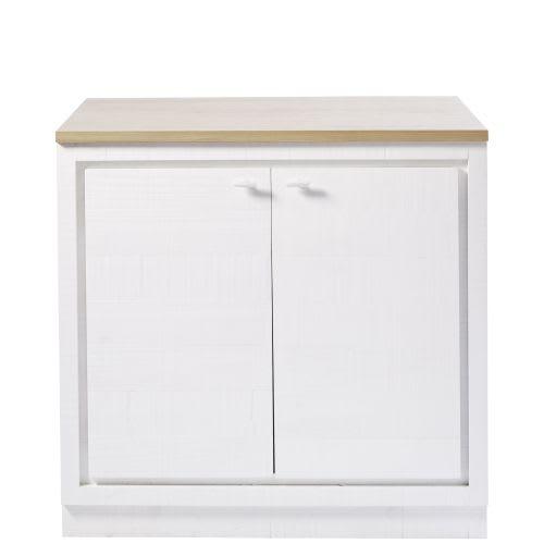 Mobile basso da cucina a 2 ante bianco