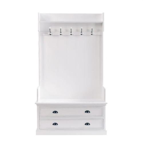 Mobile bianco da ingresso con 5 attaccapanni l 110 cm for Cerco mobile sala
